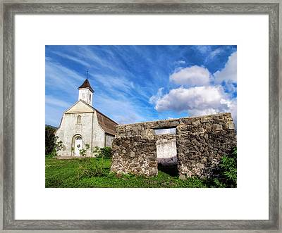 Framed Print featuring the photograph Hana Church 8 by Dawn Eshelman