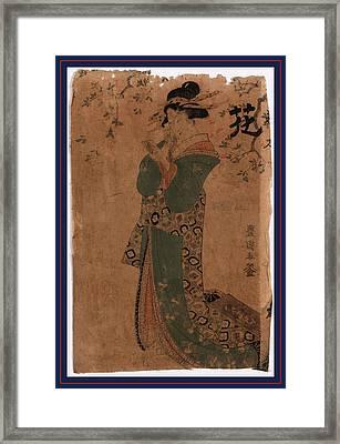 Hana, Flower. Between 1804 And 1810, 1 Print  Woodcut Framed Print