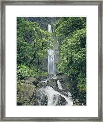 100105-hanakapiai Falls, Kauai  Framed Print