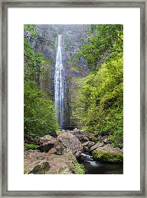 Hanakapiai Falls - Kalalau Trail Kauai Hawaii Framed Print by Brian Harig