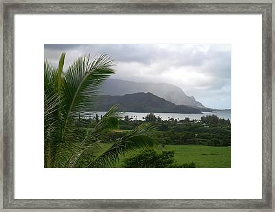 Hanalei Bay On The North Shore Of Kauai Framed Print by David R. Frazier