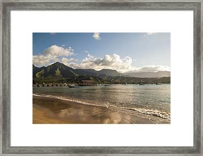 Hanalei Bay Pier - Kauai Hawaii Framed Print