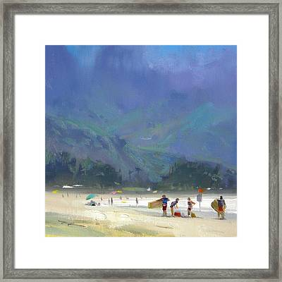 Hanalei Bay Framed Print by Richard Robinson