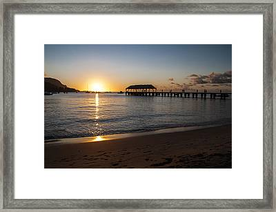 Hanalei Bay Sunset Framed Print by Brian Harig