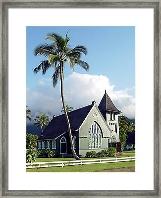 Hanalei Church 2 Framed Print
