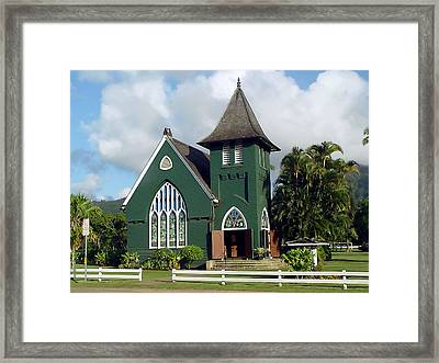Hanalei Church Framed Print