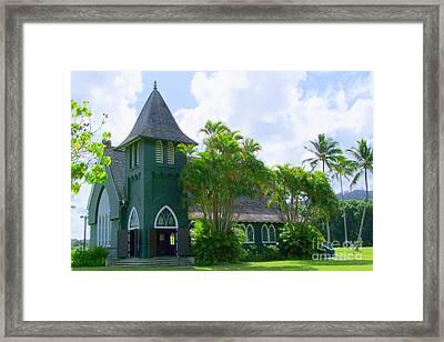 Hanalei Church Framed Print by Mary Deal