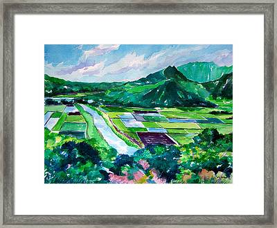 Hanalei From The Lookout Framed Print