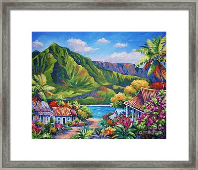 Hanalei In Bloom Framed Print by John Clark