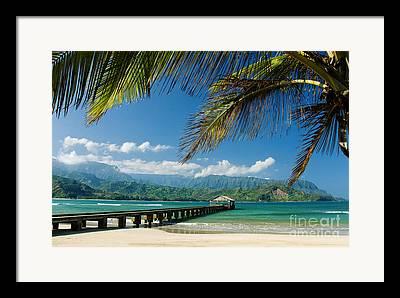 Hawaii Pier Framed Prints