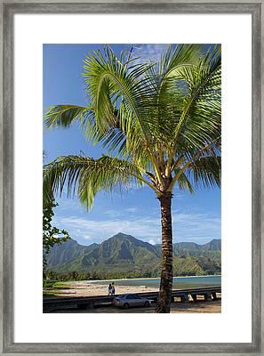 Hanalei Pier, Hanalei, Kauai, Hawaii Framed Print