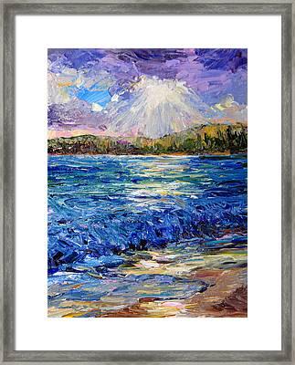 Hanalei Sunrise Framed Print by Steven Boone