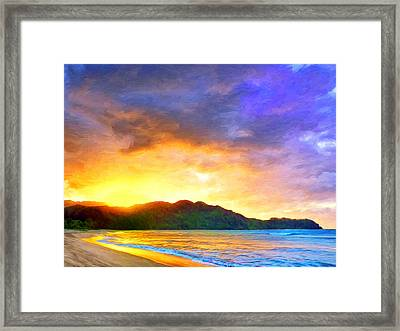 Hanalei Sunset Framed Print by Dominic Piperata