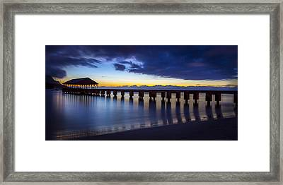 Hanalei Twilight Framed Print