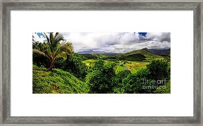 Hanalei Valley Framed Print