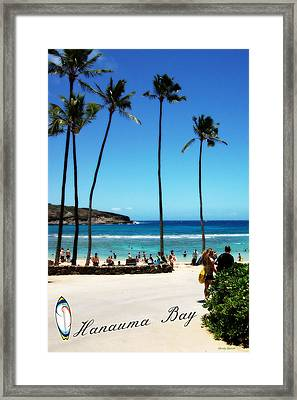 Framed Print featuring the photograph Hanauma Bay by Mindy Bench