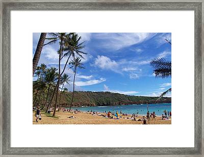 Hanauma Bay Oahu Hawaii Framed Print