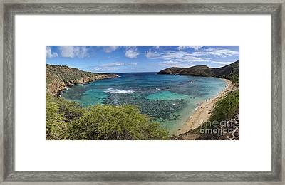 Hanauma Bay Panorama Framed Print by David Smith