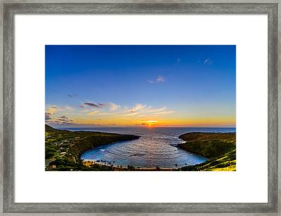 Hanauma Bay Sunrise Framed Print