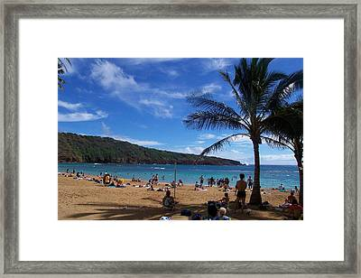 Hanauma Beach  Framed Print