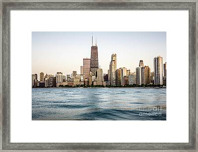 Hancock Building And Chicago Skyline Framed Print by Paul Velgos
