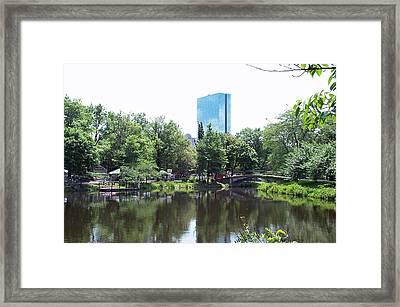 Hancock Building From Lagoon Framed Print