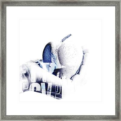 Hand And Apple  Framed Print by Tommytechno Sweden