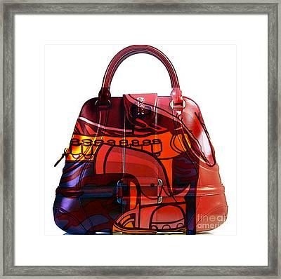 Hand Bag Pop Art Framed Print by Marvin Blaine