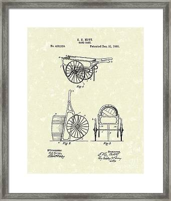 Hand Cart 1889 Patent Art Framed Print