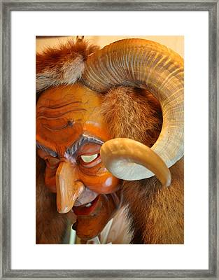 Hand-carved Mask Framed Print by Matt MacMillan