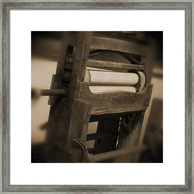 Hand Clothes Wringer Framed Print by Mike McGlothlen