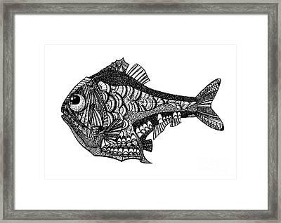 Hand Drawn Vector Illustration. Retro Framed Print