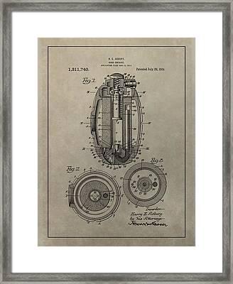 Hand Grenade Patent Framed Print