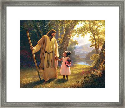 Hand In Hand Framed Print by Greg Olsen