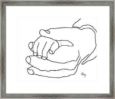 Hand In Hand Framed Print by R  Allen Swezey