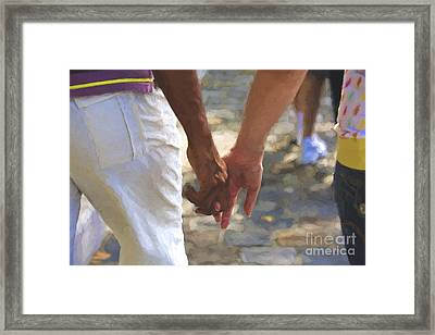 Hand In Hand Framed Print by Avalon Fine Art Photography