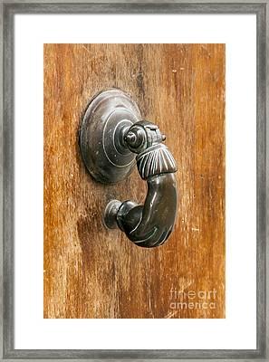 Hand Knocker Framed Print by Bob Phillips