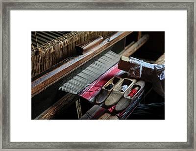 Hand Loom Framed Print