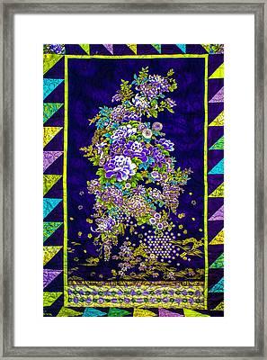 Hand Made Quilt Framed Print