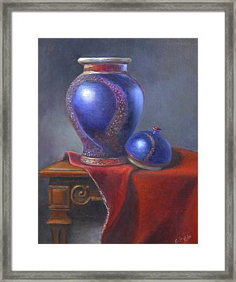 Hand Make Vase  Framed Print by Rich Kuhn