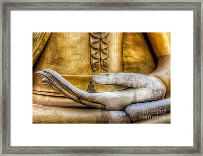 Hand Of Buddha Framed Print by Adrian Evans