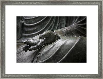Hand Of Buddha - Japanese Tea Garden Framed Print by Adam Romanowicz