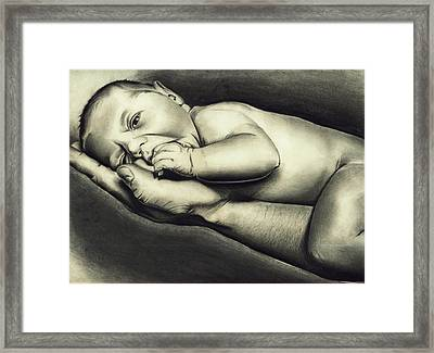 Hand Of Comfort Framed Print by Atinderpal Singh