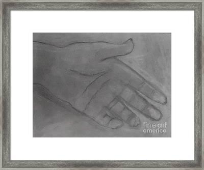 Hand Of God Framed Print by James Eye