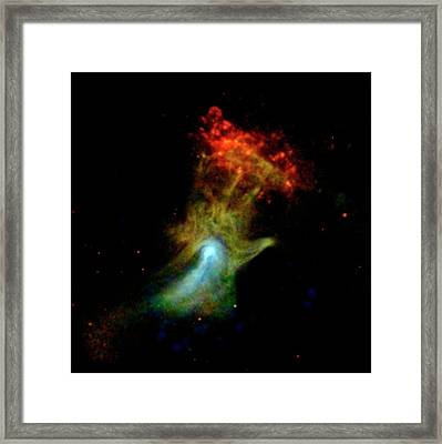 Hand Of God Pulsar Wind Nebula Framed Print by Nasa/jpl-caltech/mcgill