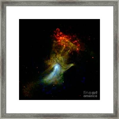 Hand Of God Pulsar Wind Nebula Framed Print by Science Source