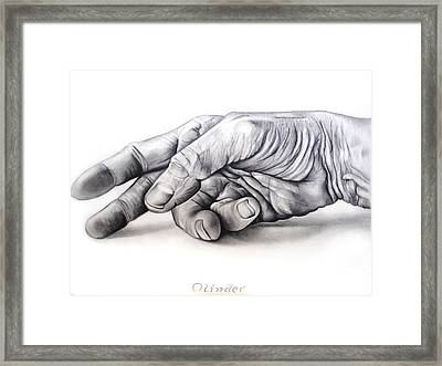 Hand Of Hard Work Framed Print by Atinderpal Singh