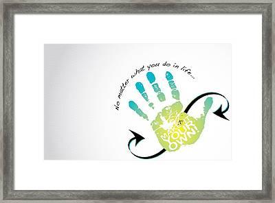 Hand Of Life Framed Print