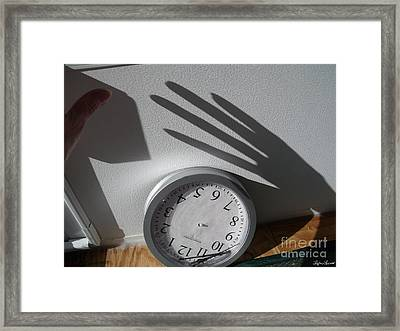 Hand Of Time Framed Print by Lyric Lucas