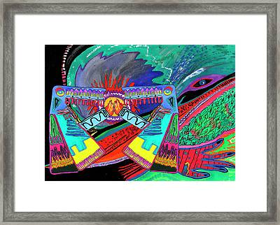 Hand Of Time.meeting Framed Print